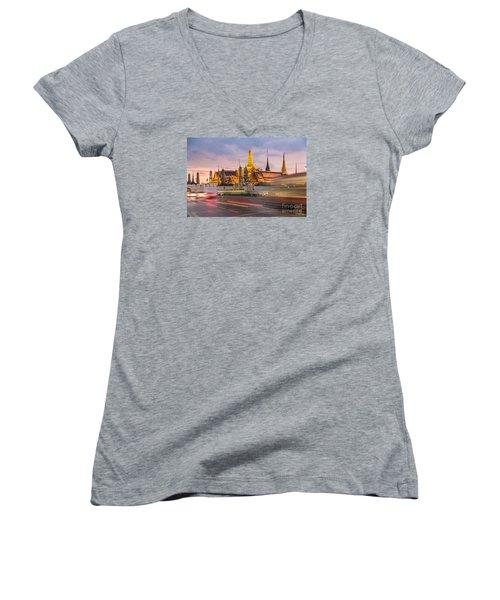 Bangkok Wat Phra Keaw Women's V-Neck T-Shirt