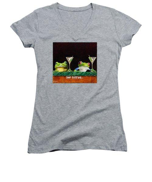Bar Hopping... Women's V-Neck T-Shirt