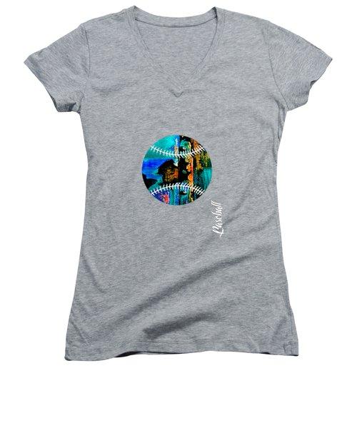 Baseball Collection Women's V-Neck T-Shirt