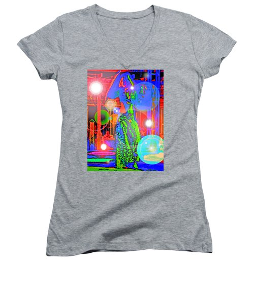 Belly Dance Women's V-Neck T-Shirt (Junior Cut) by Andy Za