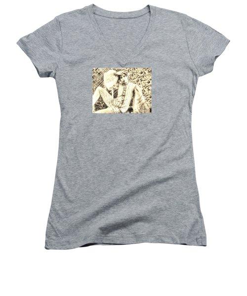 BOY Women's V-Neck T-Shirt (Junior Cut) by Yury Bashkin