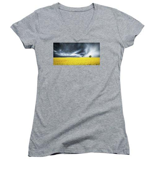 Canola Field Women's V-Neck T-Shirt