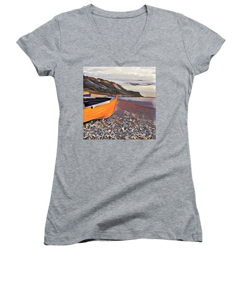 Chesil Beach Women's V-Neck T-Shirt