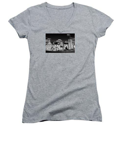 Clackmannan Women's V-Neck T-Shirt (Junior Cut) by Jeremy Lavender Photography