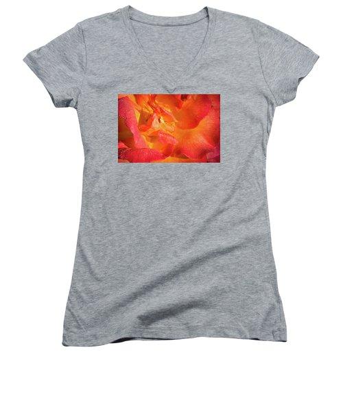 Floribunda Women's V-Neck T-Shirt (Junior Cut) by Denis Lemay