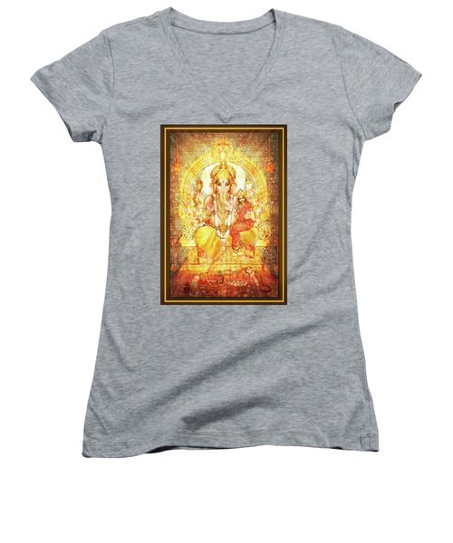 Ganesha Ganapati - Success Women's V-Neck (Athletic Fit)