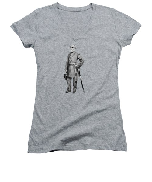 General Robert E. Lee Women's V-Neck T-Shirt