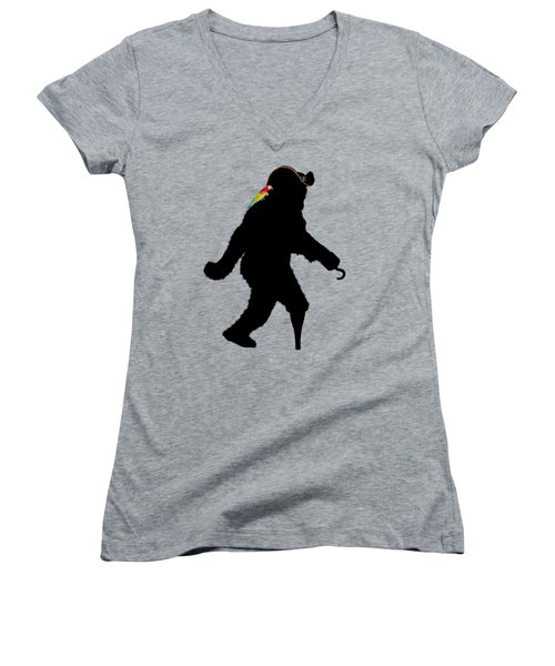 Gone Squatchin Fer Buried Treasure Women's V-Neck T-Shirt (Junior Cut) by Gravityx9  Designs