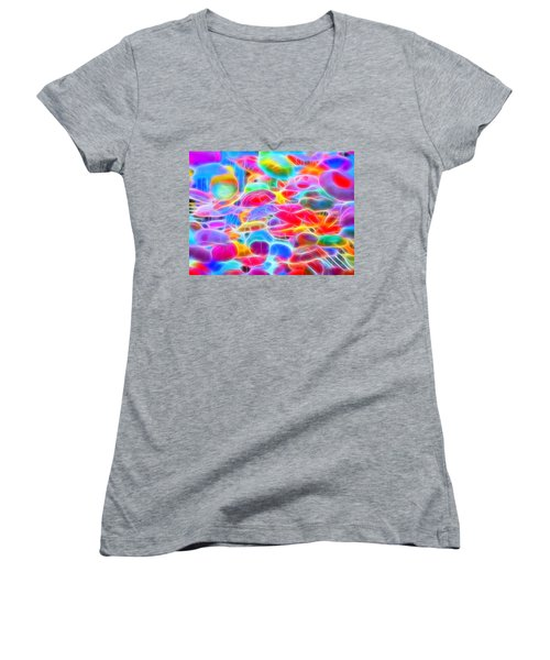 In Color Abstract 9 Women's V-Neck T-Shirt