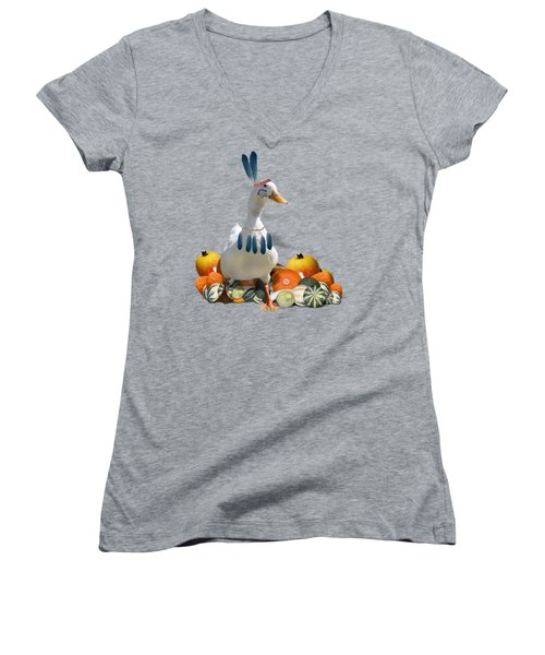 Indian Duck Women's V-Neck T-Shirt