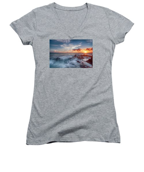 Into The Mystic Women's V-Neck T-Shirt (Junior Cut) by James Roemmling