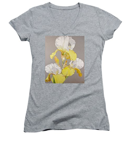 Irises-posthumously Presented Paintings Of Sachi Spohn  Women's V-Neck (Athletic Fit)