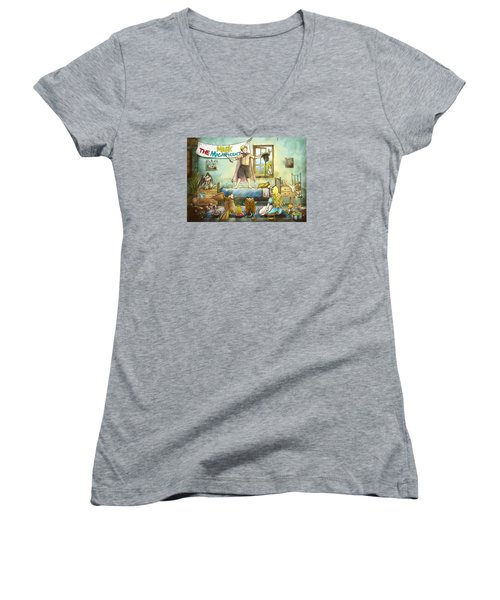Mark The Magnificent Women's V-Neck T-Shirt (Junior Cut) by Reynold Jay