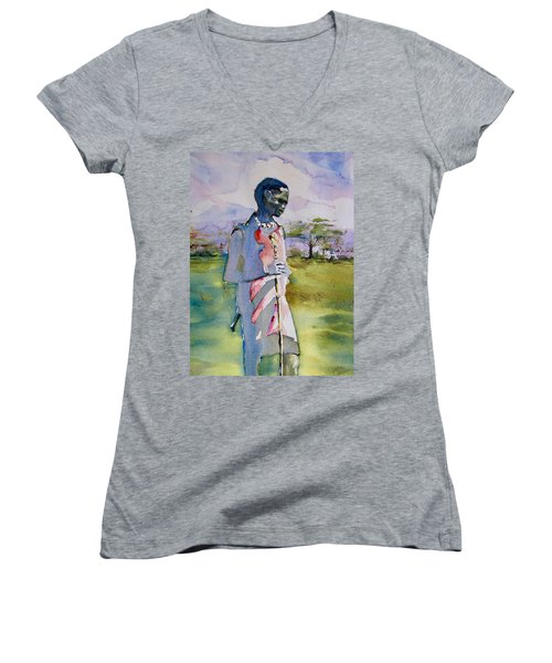 Masaai Boy Women's V-Neck T-Shirt