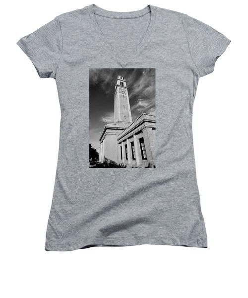 Memorial Tower - Lsu Women's V-Neck T-Shirt