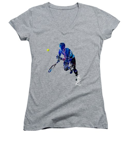 Mens Tennis Collection Women's V-Neck T-Shirt