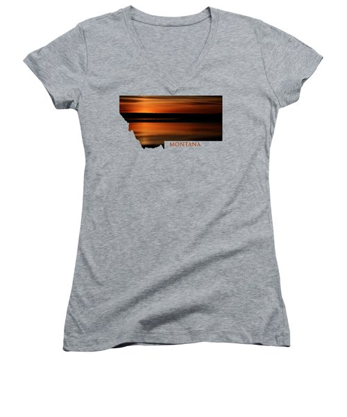 Montana- Sunrise Women's V-Neck T-Shirt