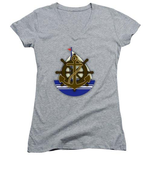 Nautical Collection Women's V-Neck T-Shirt