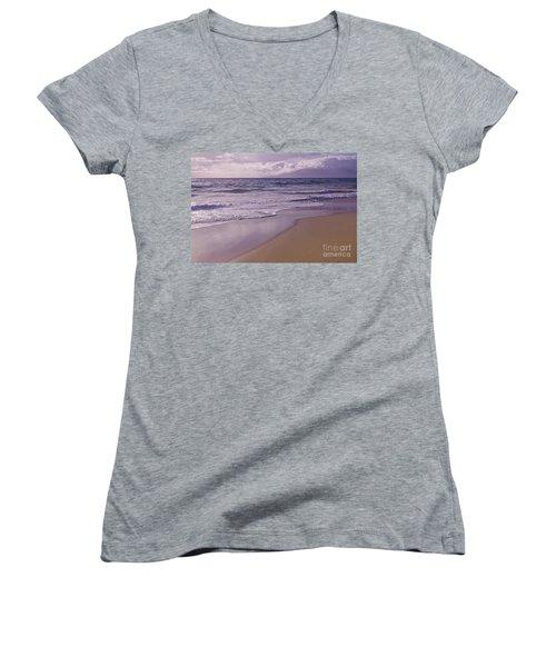Paradise Women's V-Neck T-Shirt (Junior Cut) by Sharon Mau