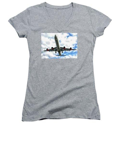 Passenger Plane Women's V-Neck