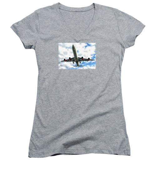 Passenger Plane Women's V-Neck T-Shirt