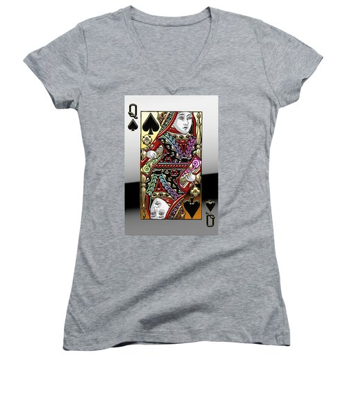 Queen Of Spades  Women's V-Neck