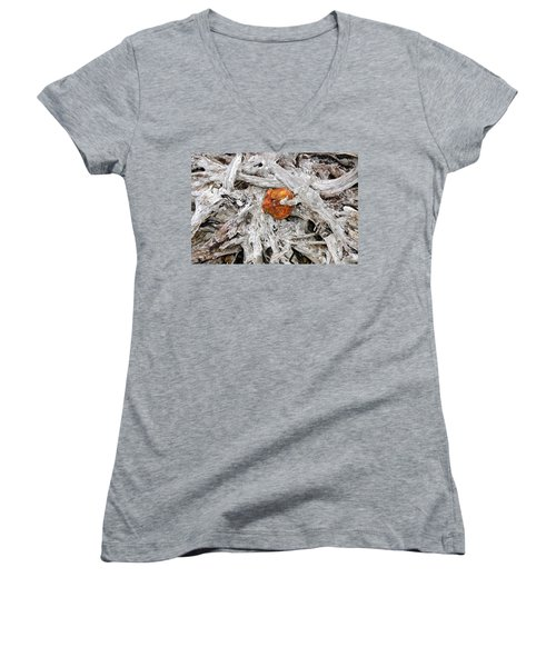 Women's V-Neck T-Shirt (Junior Cut) featuring the photograph Seattle Morning by David Lee Thompson