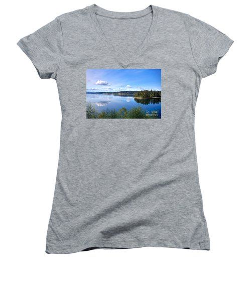 Serenity Women's V-Neck T-Shirt (Junior Cut) by Sean Griffin