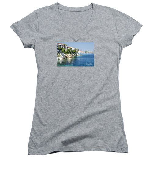 Skiathos Island, Greece Women's V-Neck