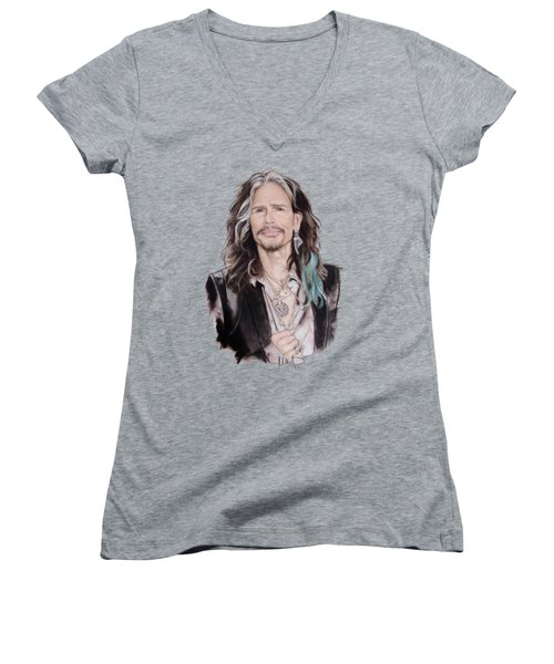 Steven Tyler  Women's V-Neck (Athletic Fit)