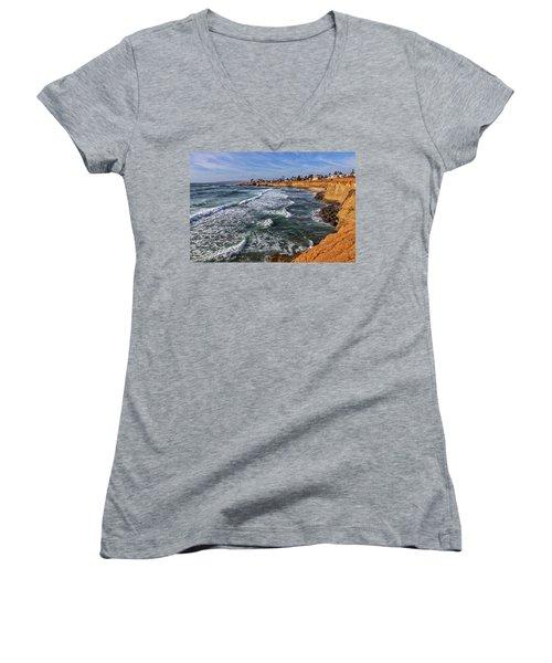 Sunset Cliffs 2 Women's V-Neck
