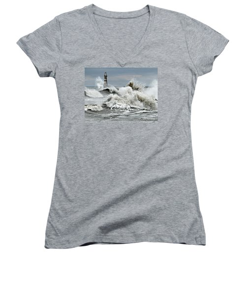 The Angry Sea Women's V-Neck (Athletic Fit)