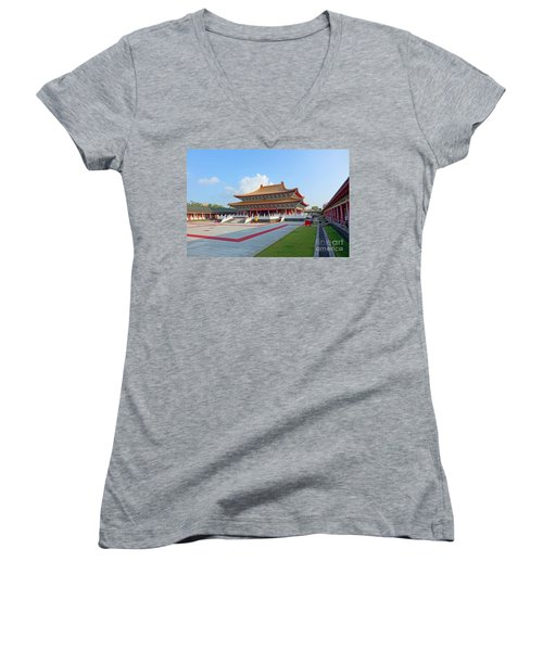 The Confucius Temple In Kaohsiung, Taiwan Women's V-Neck