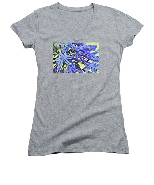 the lily of the Nile... Women's V-Neck T-Shirt (Junior Cut) by Werner Lehmann