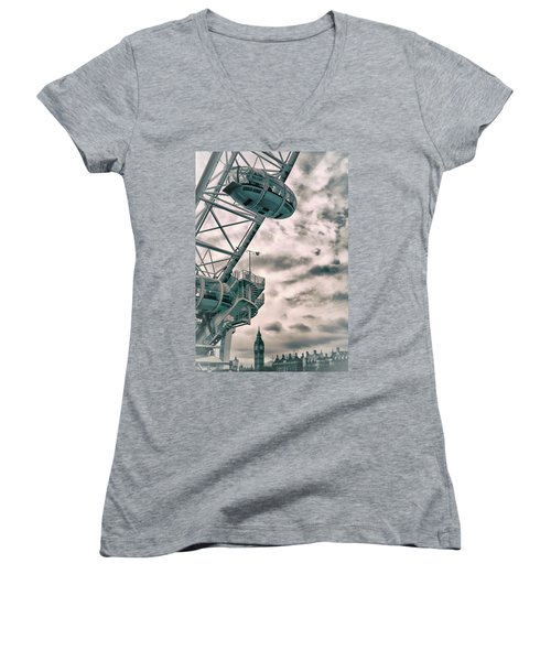 The London Eye Women's V-Neck T-Shirt
