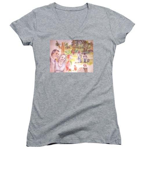 The Wedding Album  Women's V-Neck T-Shirt (Junior Cut)