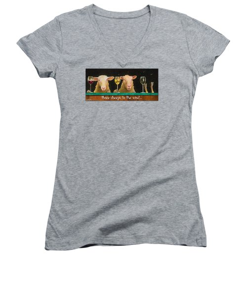 Three Sheeps To The Wind... Women's V-Neck