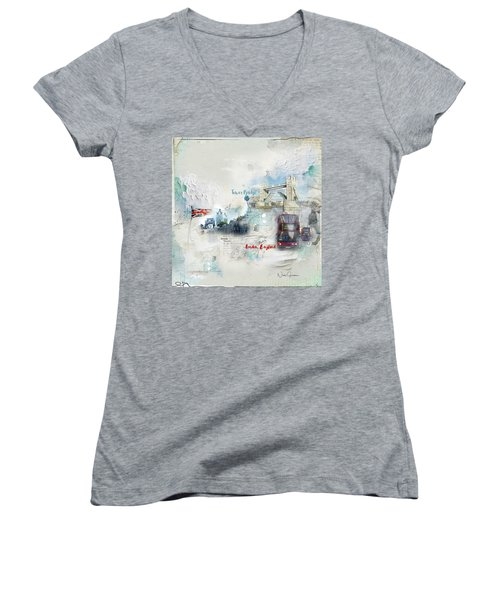 Tower Bridge Women's V-Neck (Athletic Fit)