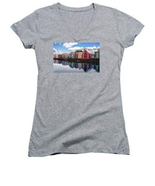 Trondheim Coastal View Women's V-Neck