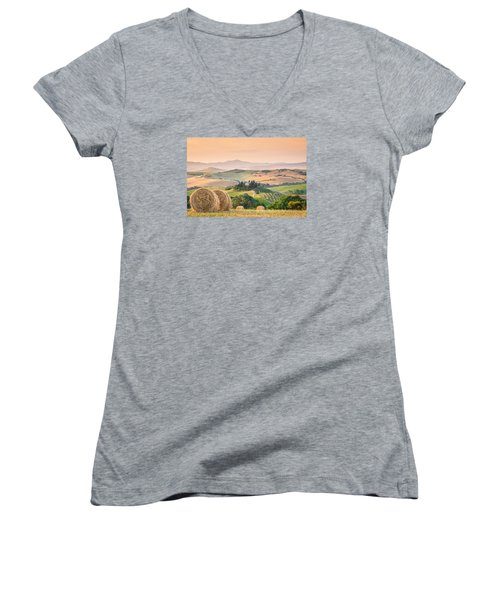 Tuscany Morning Women's V-Neck T-Shirt