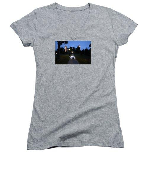 University Of Arkansas Women's V-Neck T-Shirt (Junior Cut)