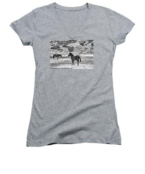 Virginia Range Mustangs Women's V-Neck