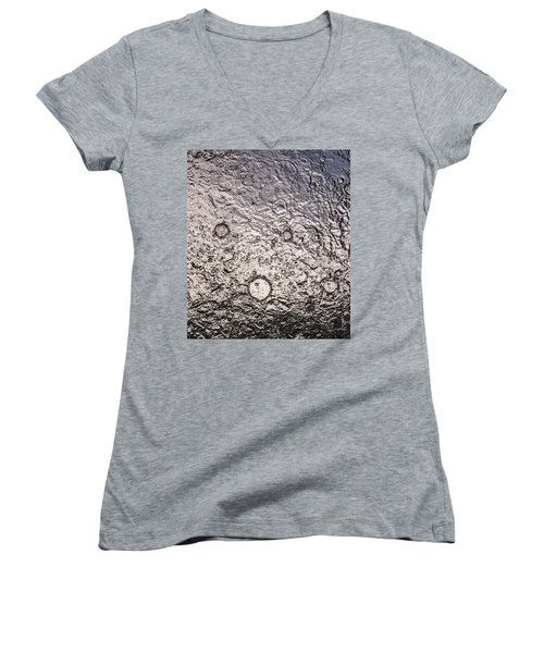 Water Abstraction - Liquid Metal Women's V-Neck (Athletic Fit)