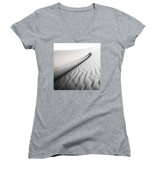 Wave Theory Vi Women's V-Neck T-Shirt (Junior Cut) by Ryan Weddle