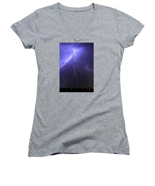 West Jordan Lightning 4 Women's V-Neck T-Shirt