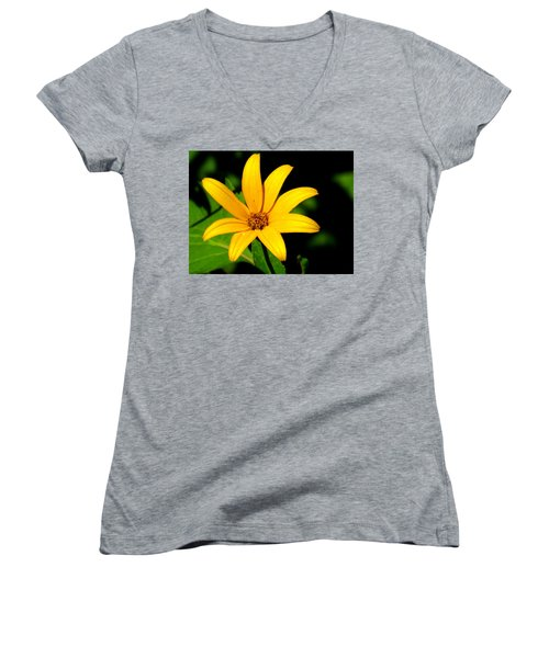 Women's V-Neck T-Shirt (Junior Cut) featuring the photograph Wild Flower by Eric Switzer