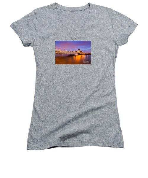 London Women's V-Neck T-Shirt (Junior Cut) by Mariusz Czajkowski