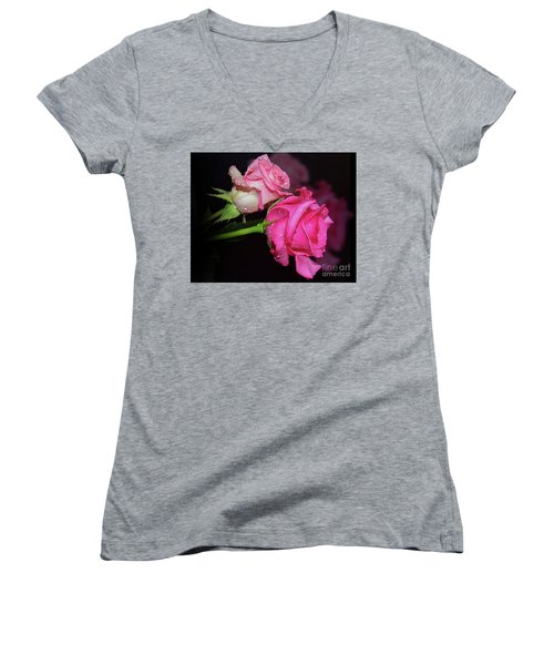 Two Roses Women's V-Neck T-Shirt