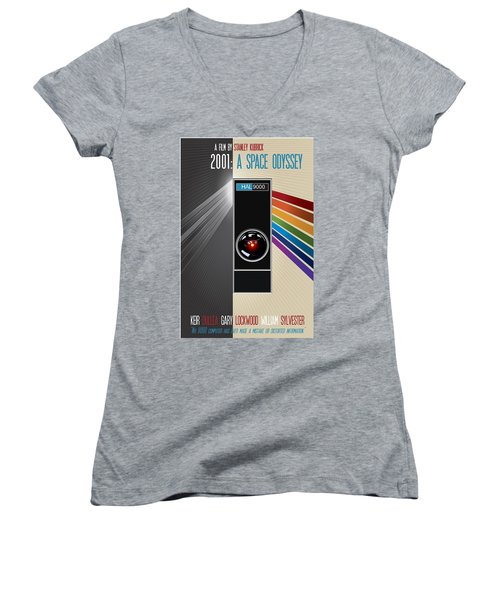 2001 A Space Odyssey Poster Print - No 9000 Computer Has Ever Made A Mistake Women's V-Neck T-Shirt