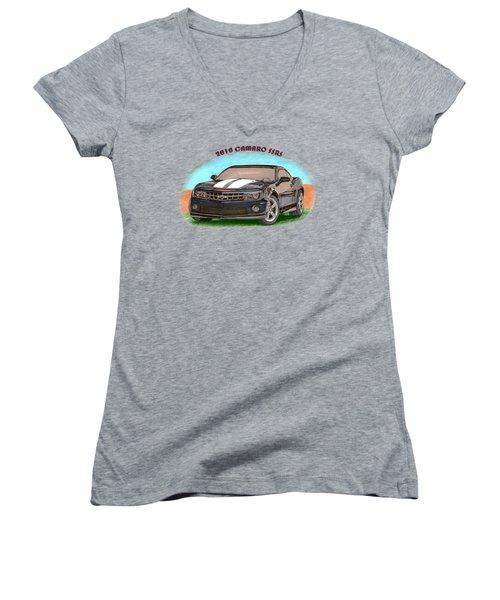 Camaro Ss  Rs Women's V-Neck T-Shirt